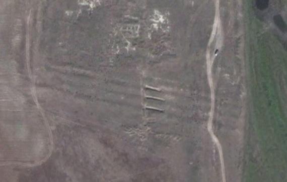 Снимок раскопок со спутника