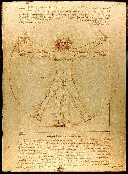 Витрувианский человек Леонардо да Винчи