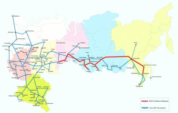 Оптико-волоконная линия Хабаровск-Челябинск