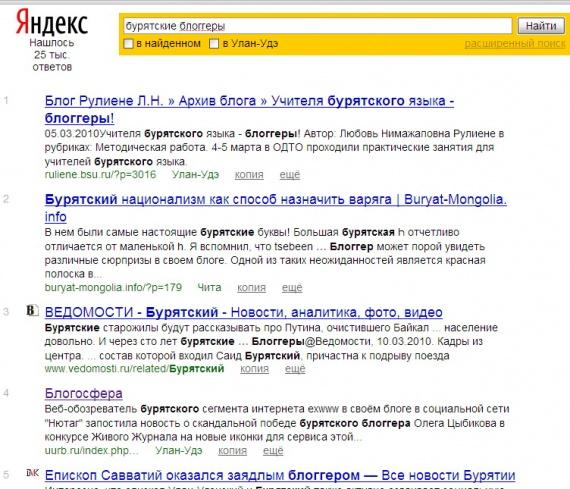 бурятские блоггеры в Яндексе